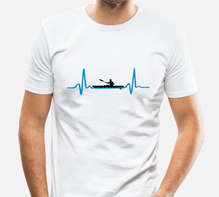 kayak-canoeing-heartbeat-man-maglietta-aderente-da-uomo