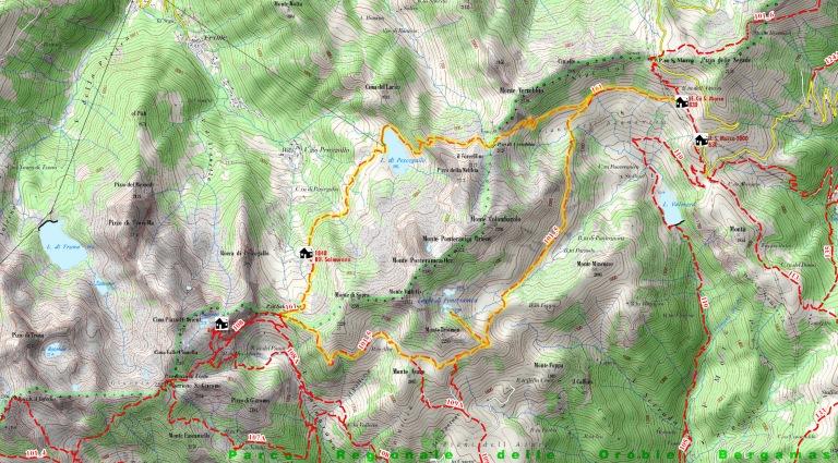 Passo San Marco Mappa riepilogativa con traccia