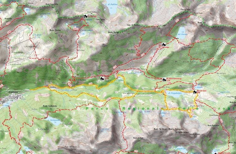 Rifugio Calvi - riepilogo mappa