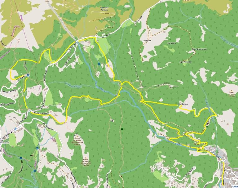mappa Ballabio-Rifugio Carlo Porta